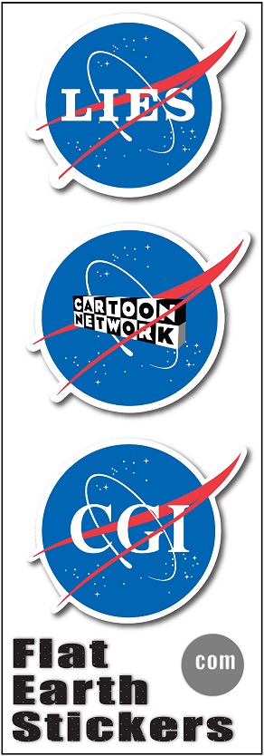 Flat Earth Stickers